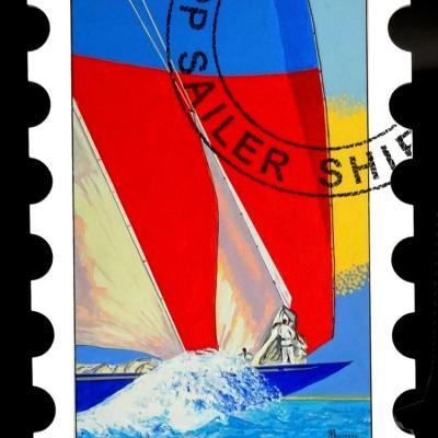 36 d24 60x84cm sailer ship