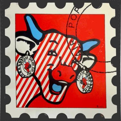 36 d6 72x72cm lettre vache