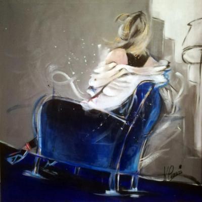 Blue sofa 60x60