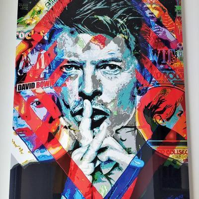 Bowie sur alu 60x80 cm