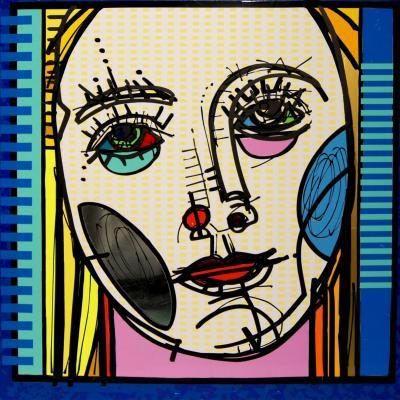 Femen lines aluminum 100 x100 cm