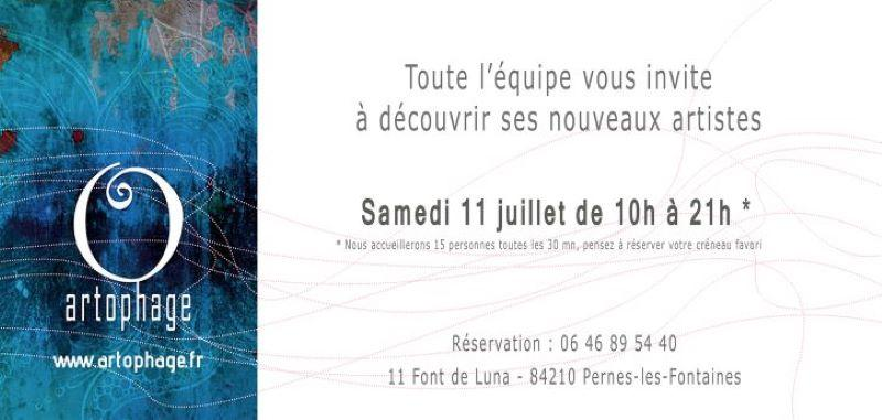 Invitation vernissage artophage 11 07 2020