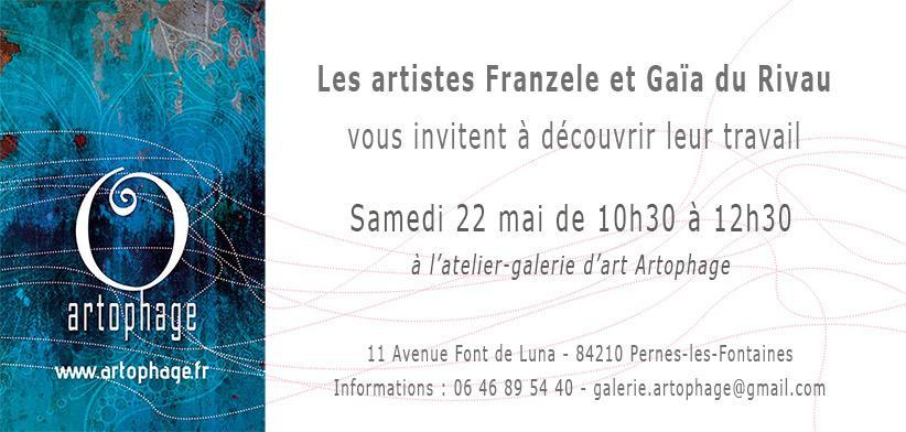 Invitation vernissage franzele et gaia du rivau 22 05