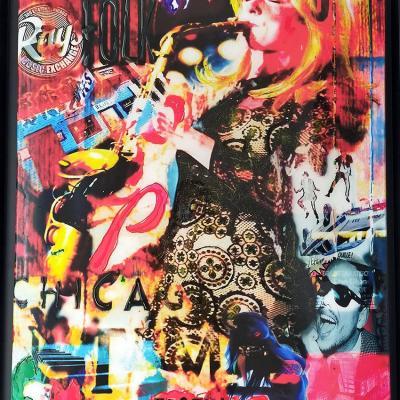 Jazz girl 60x80 cm sur toile avec caisse americaine 64 5x84 5 cm