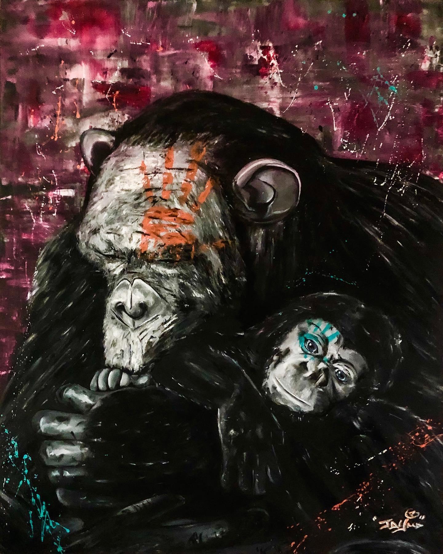 Monkey 160x130 cm