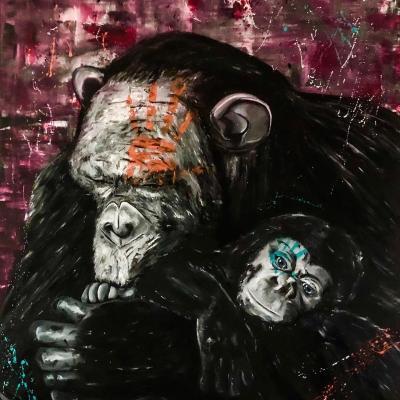Monkey 160x130cm