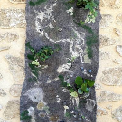 Mur vegetal tout en laine