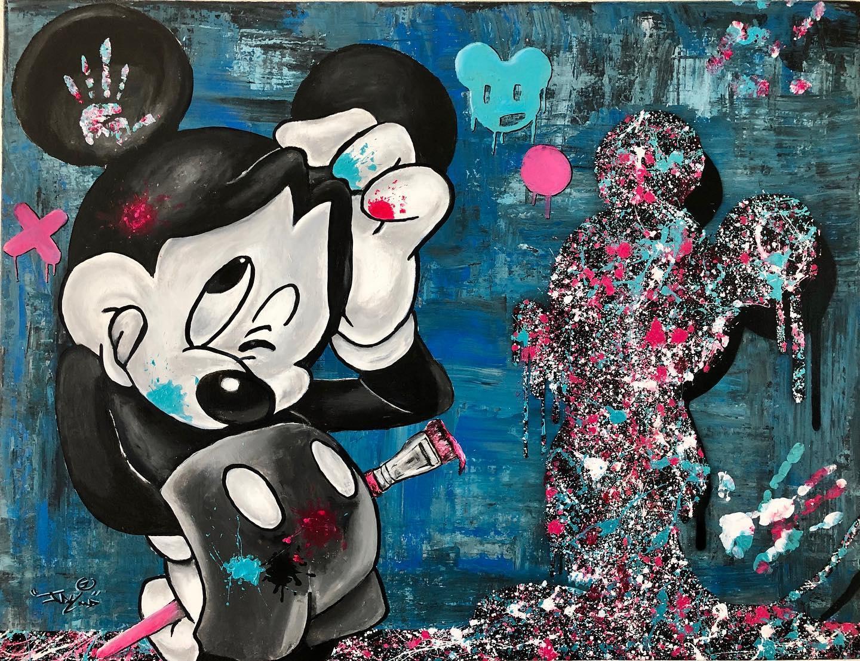 Paint by mouse 116x81 cm