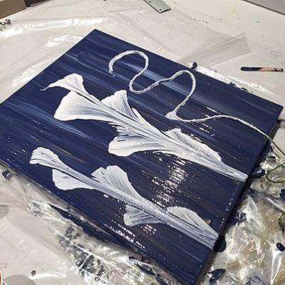 Peinture a la ficelle 2